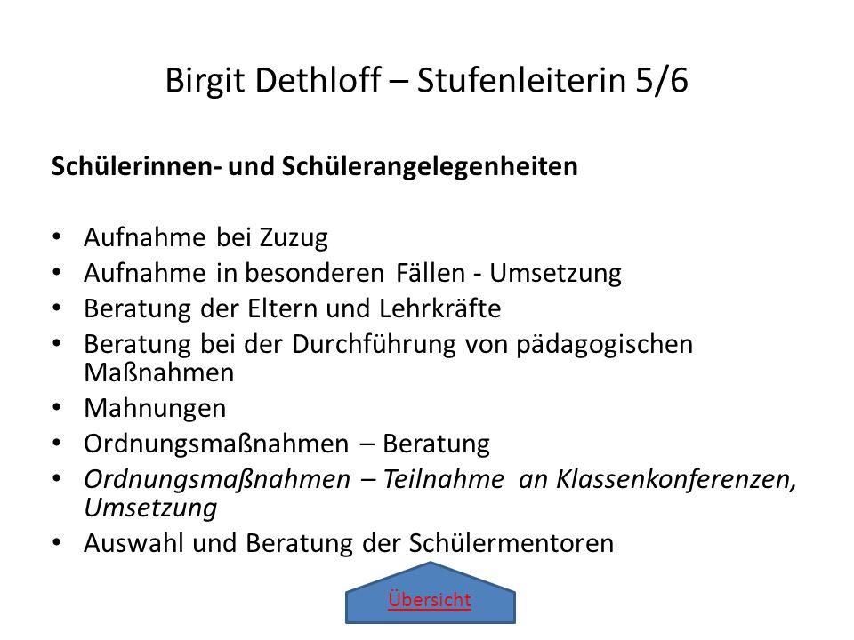 Birgit Dethloff – Stufenleiterin 5/6