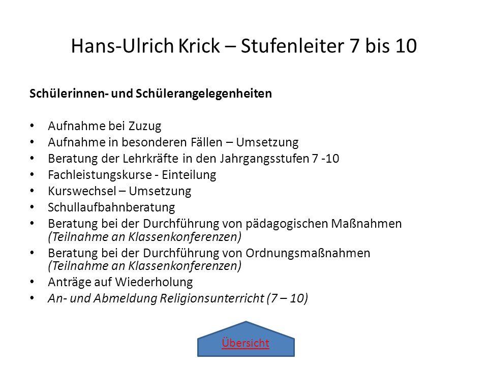 Hans-Ulrich Krick – Stufenleiter 7 bis 10