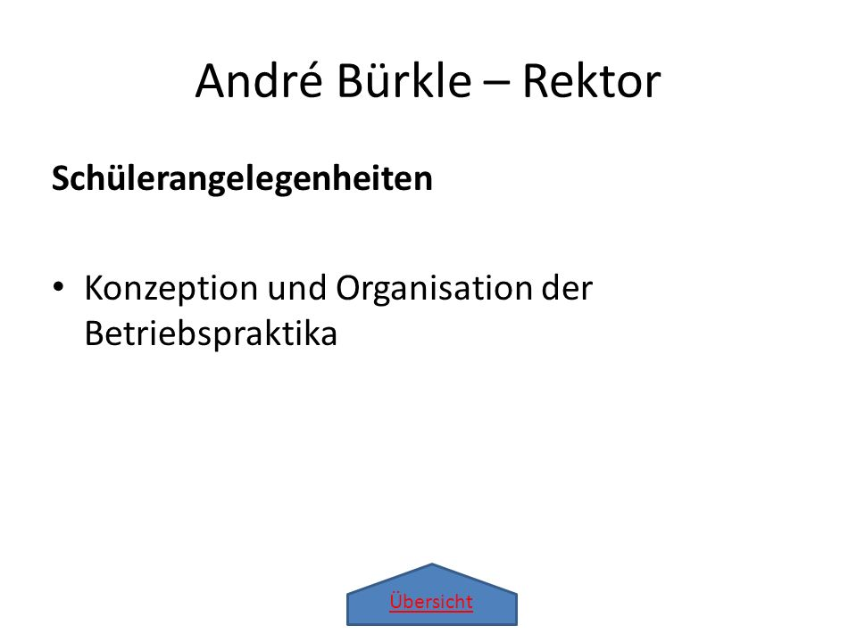André Bürkle – Rektor Schülerangelegenheiten