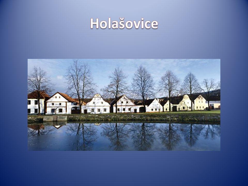Holašovice Ausgewählte Häuser, die im Stil des Volksbarock gebaut worden sind