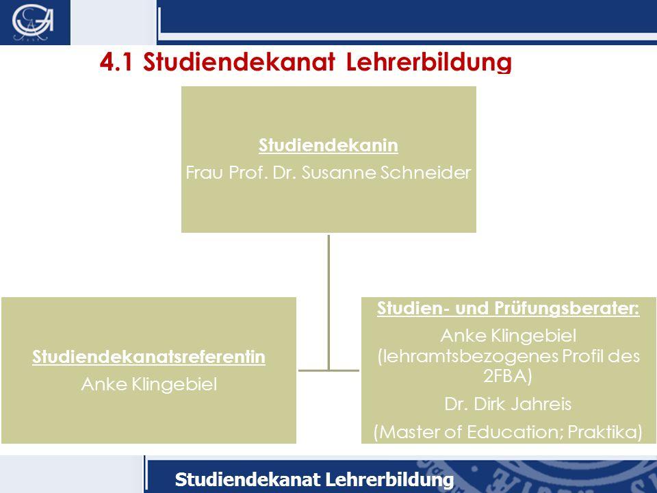 4.1 Studiendekanat Lehrerbildung