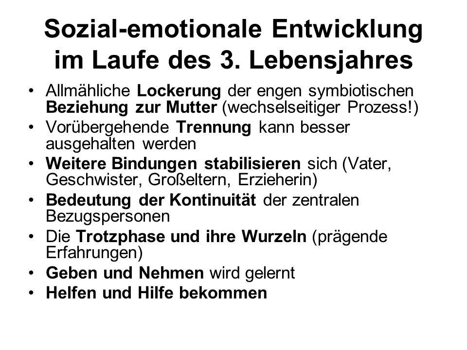 Sozial-emotionale Entwicklung im Laufe des 3. Lebensjahres