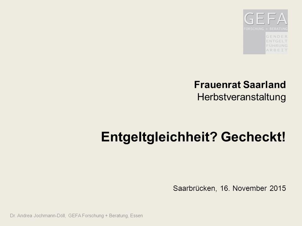 Frauenrat Saarland Herbstveranstaltung Entgeltgleichheit. Gecheckt