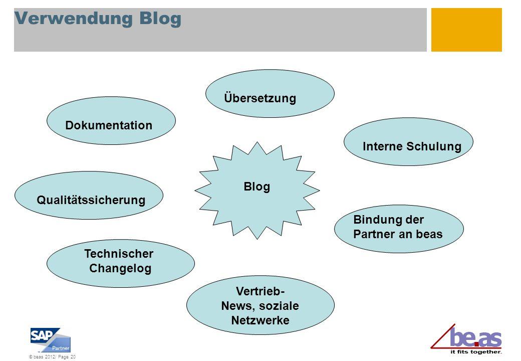 Verwendung Blog Übersetzung Dokumentation Interne Schulung Blog
