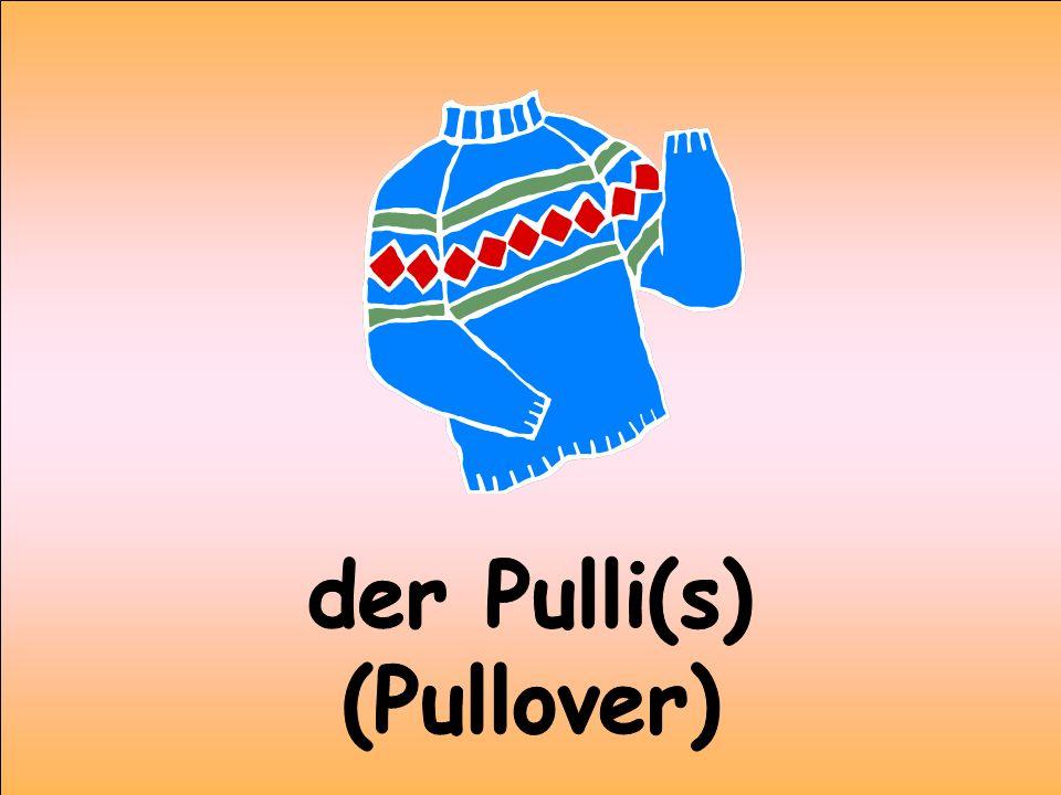 der Pulli(s) (Pullover)