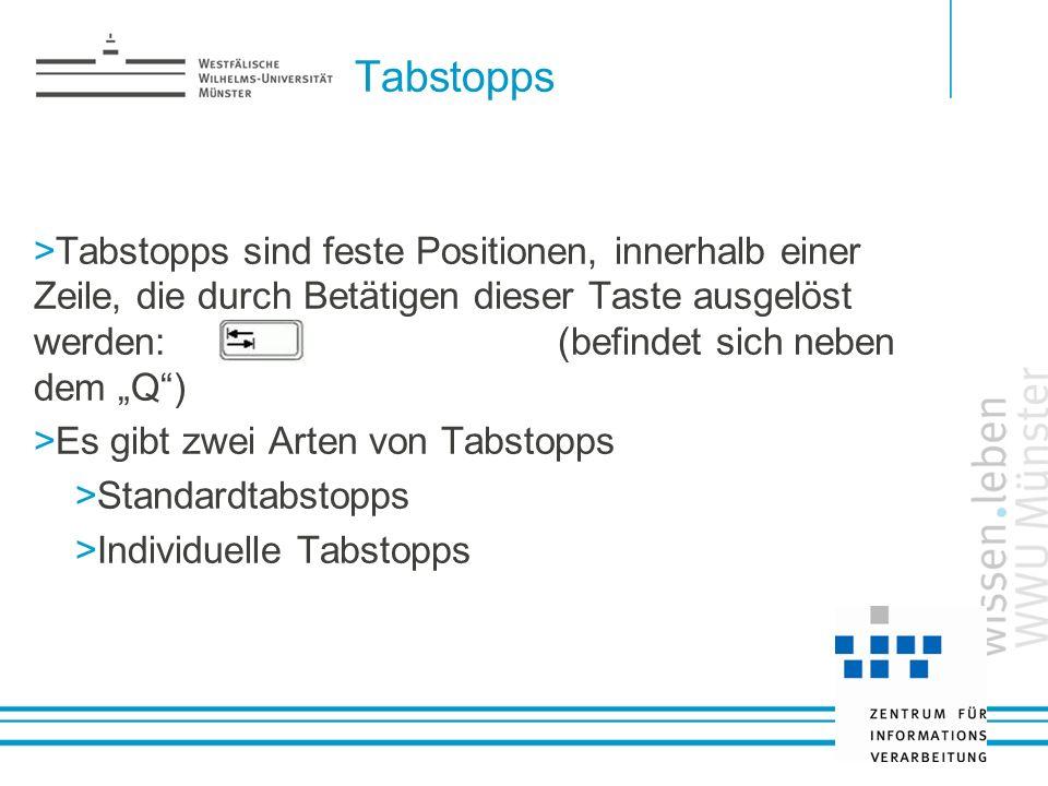 Tabstopps