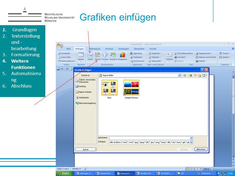 Grafiken einfügen Grundlagen Texterstellung und -bearbeitung