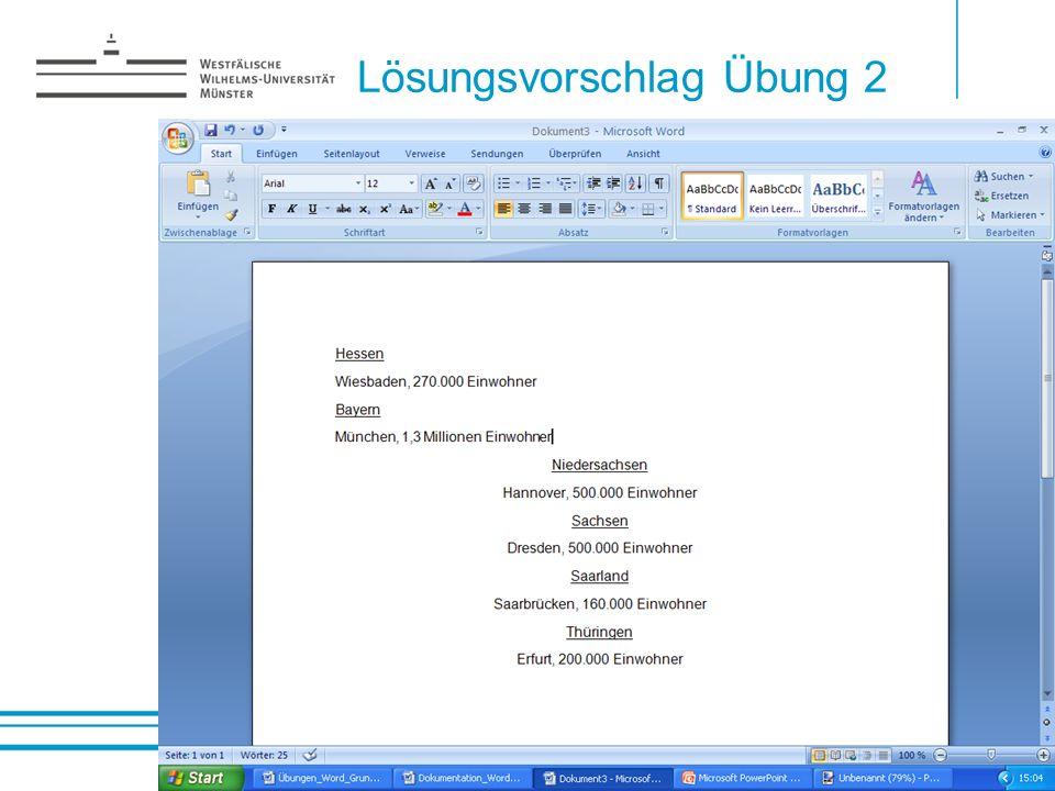 Lösungsvorschlag Übung 2