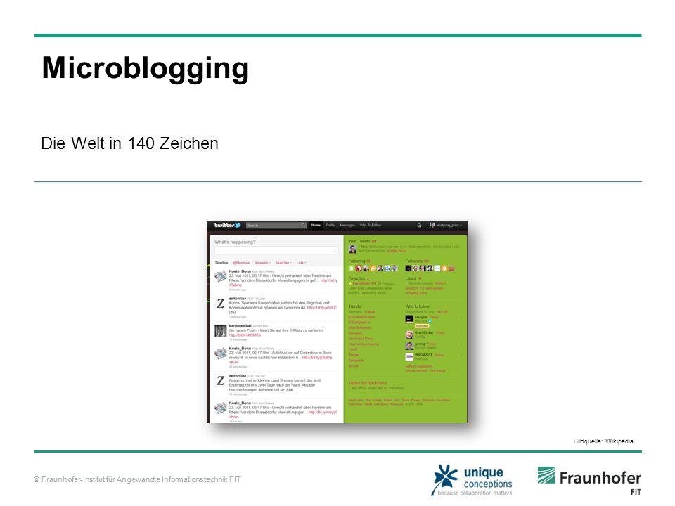 Microblogging Die Welt in 140 Zeichen Bildquelle: Wikipedia