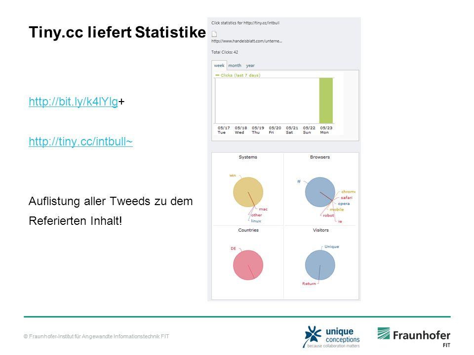 Tiny.cc liefert Statistiken