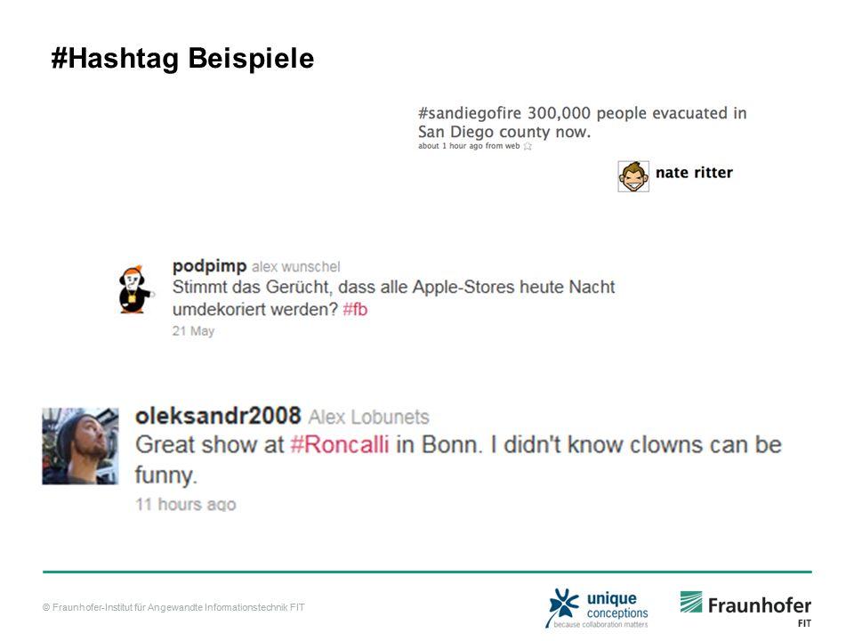 #Hashtag Beispiele