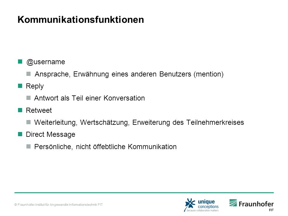 Kommunikationsfunktionen