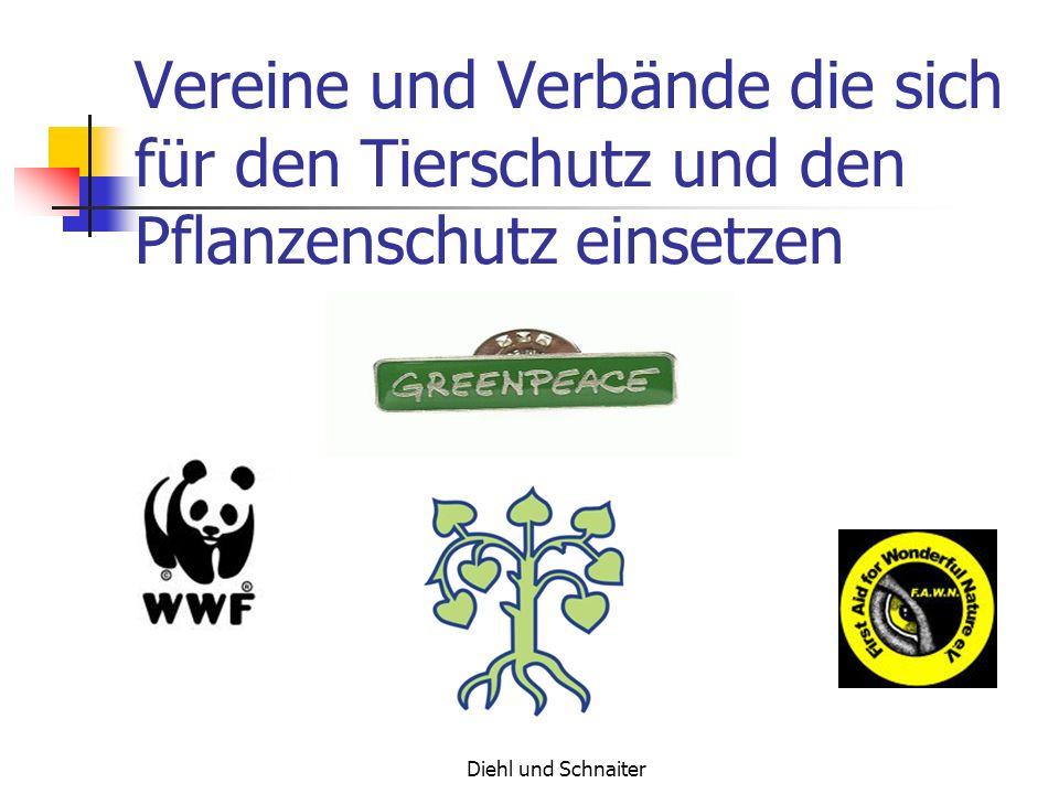 Vereine und Verbände die sich für den Tierschutz und den Pflanzenschutz einsetzen