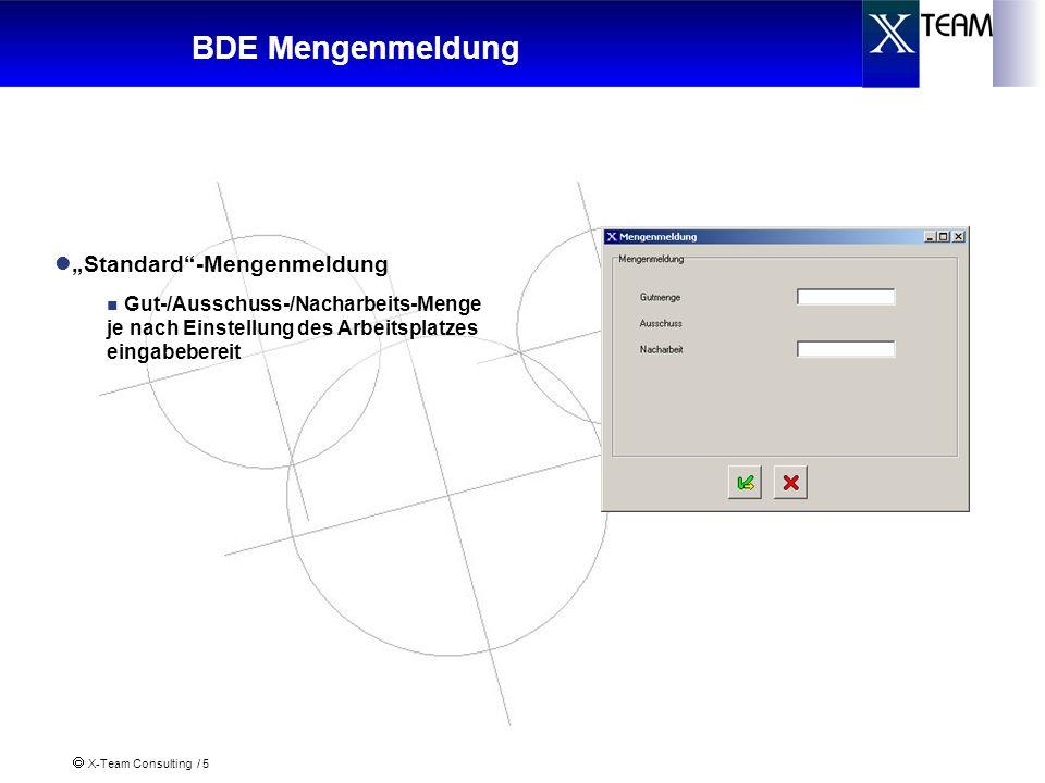 """BDE Mengenmeldung """"Standard -Mengenmeldung"""