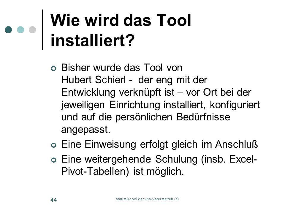Wie wird das Tool installiert