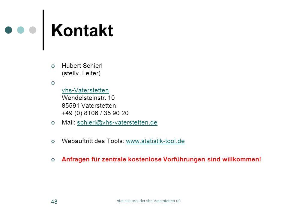 www.statistik-tool.de - Hubert Schierl - T. 0049 (0) 8106 359020