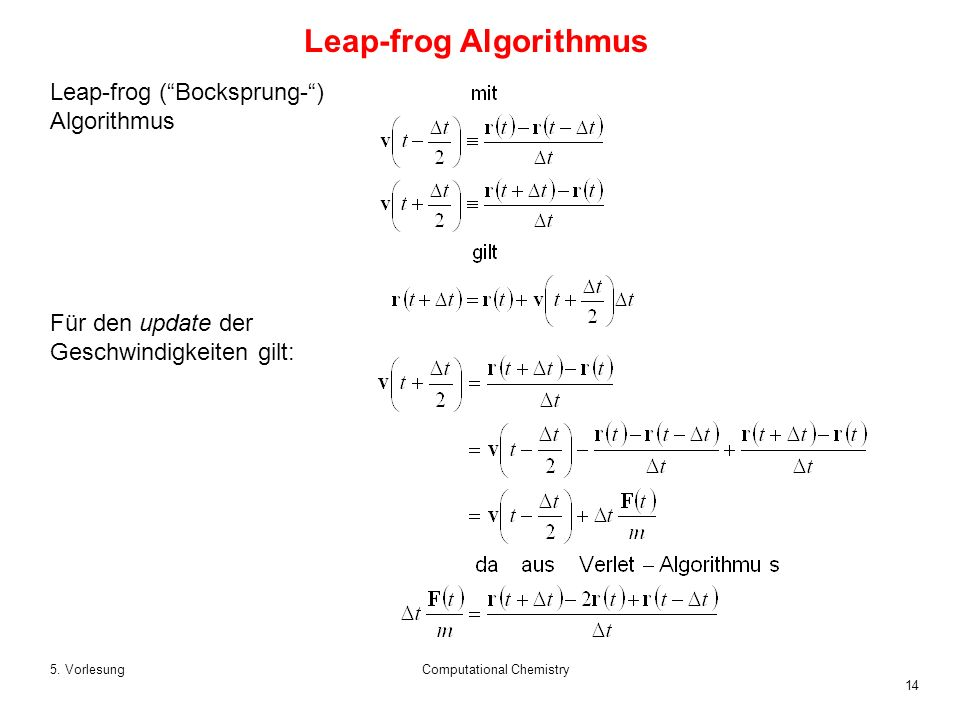 Leap-frog Algorithmus