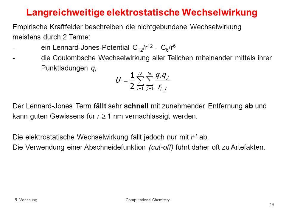 Langreichweitige elektrostatische Wechselwirkung
