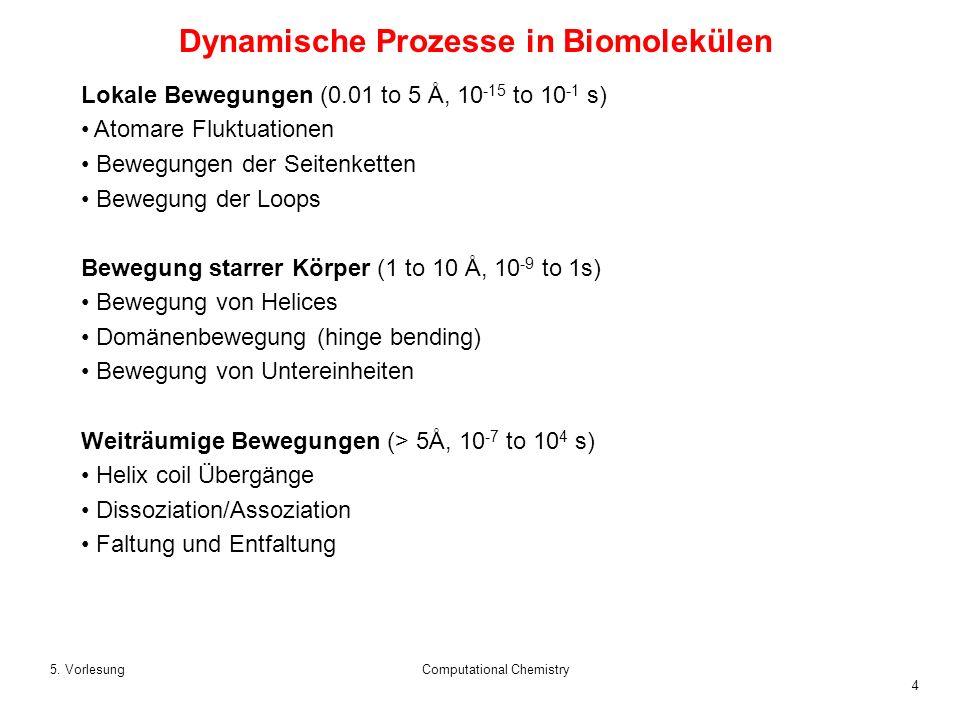 Dynamische Prozesse in Biomolekülen