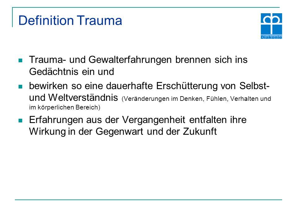 Definition Trauma Trauma- und Gewalterfahrungen brennen sich ins Gedächtnis ein und.