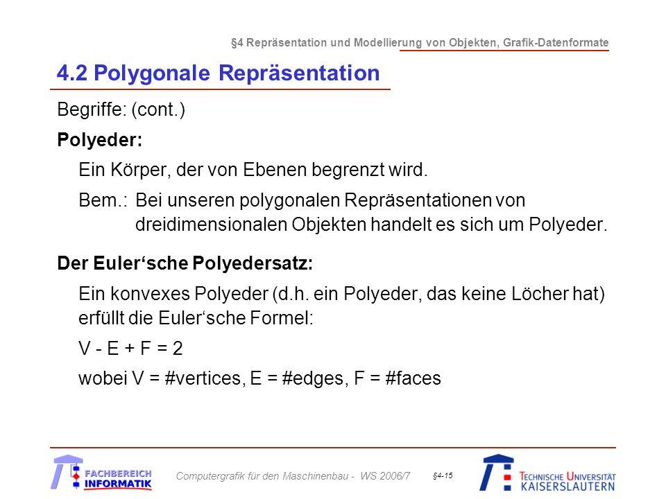 4.2 Polygonale Repräsentation