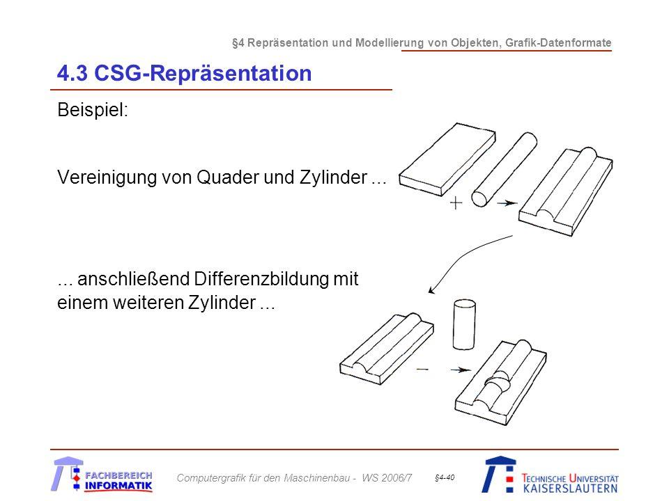 4.3 CSG-Repräsentation Beispiel: