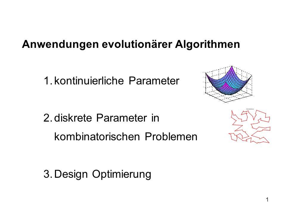 Anwendungen evolutionärer Algorithmen