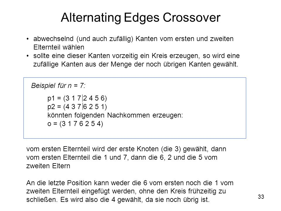Alternating Edges Crossover