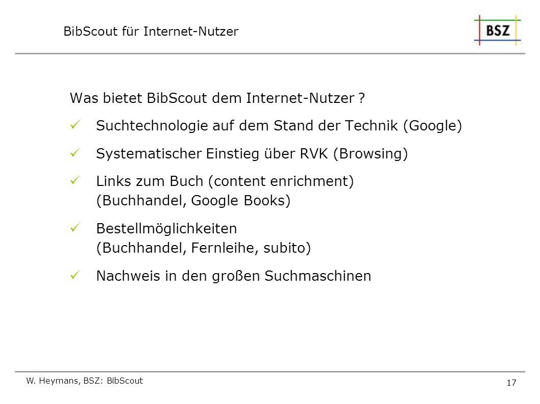 BibScout für Internet-Nutzer