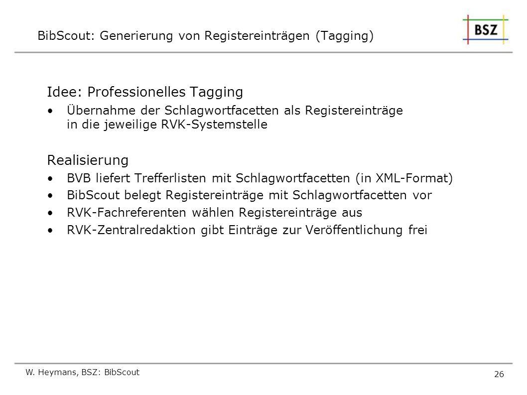 BibScout: Generierung von Registereinträgen (Tagging)