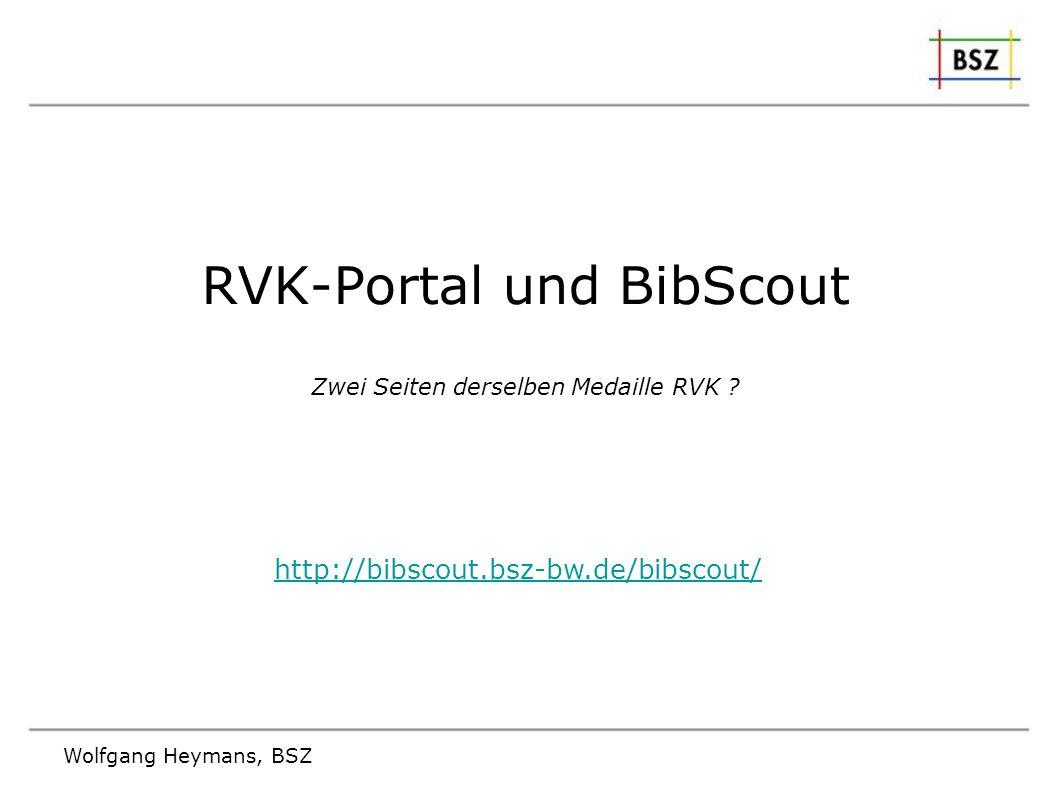 RVK-Portal und BibScout