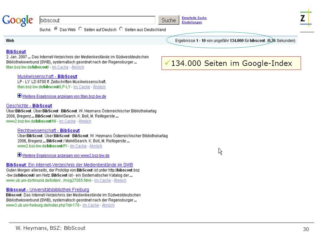 134.000 Seiten im Google-Index