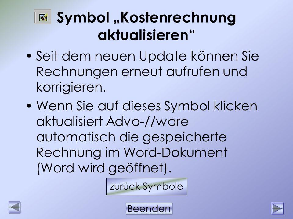 """Symbol """"Kostenrechnung aktualisieren"""