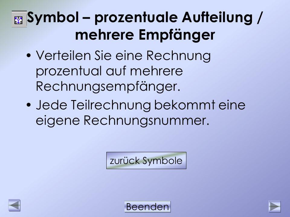 Symbol – prozentuale Aufteilung / mehrere Empfänger