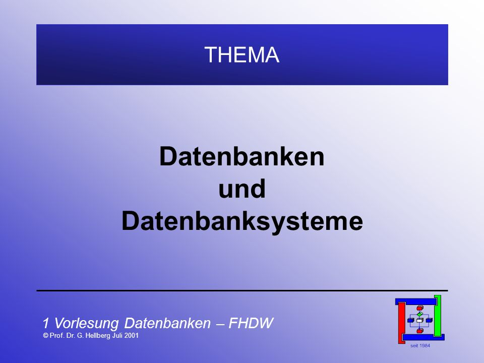 Datenbanken und Datenbanksysteme