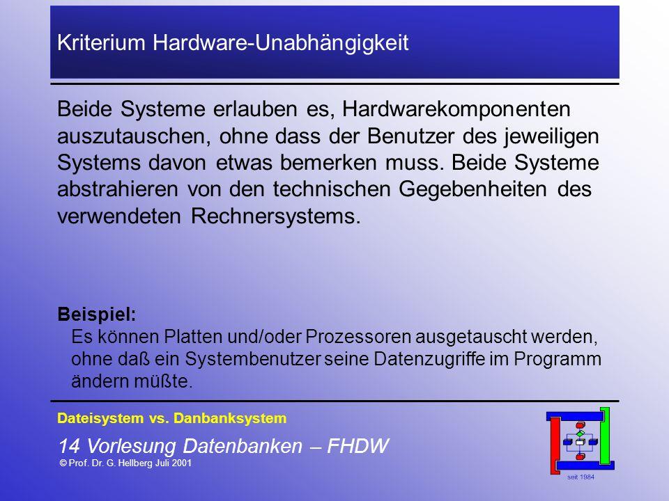 Kriterium Hardware-Unabhängigkeit