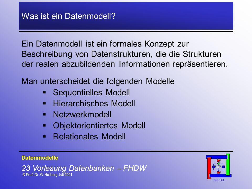 Was ist ein Datenmodell