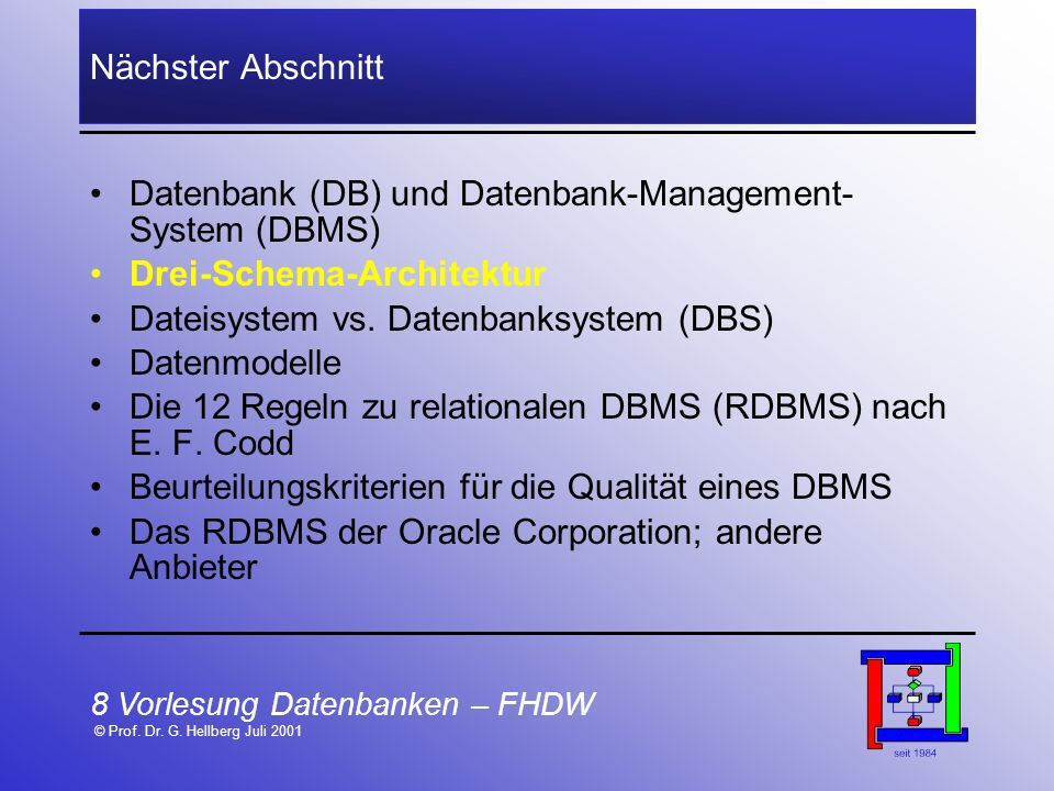 Datenbank (DB) und Datenbank-Management-System (DBMS)
