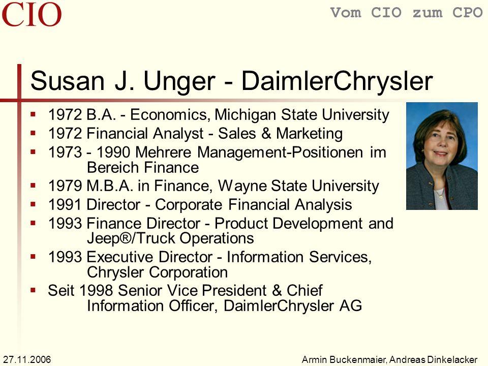 Susan J. Unger - DaimlerChrysler