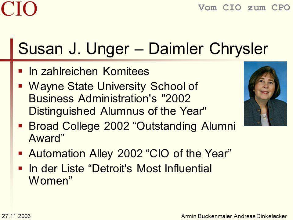 Susan J. Unger – Daimler Chrysler
