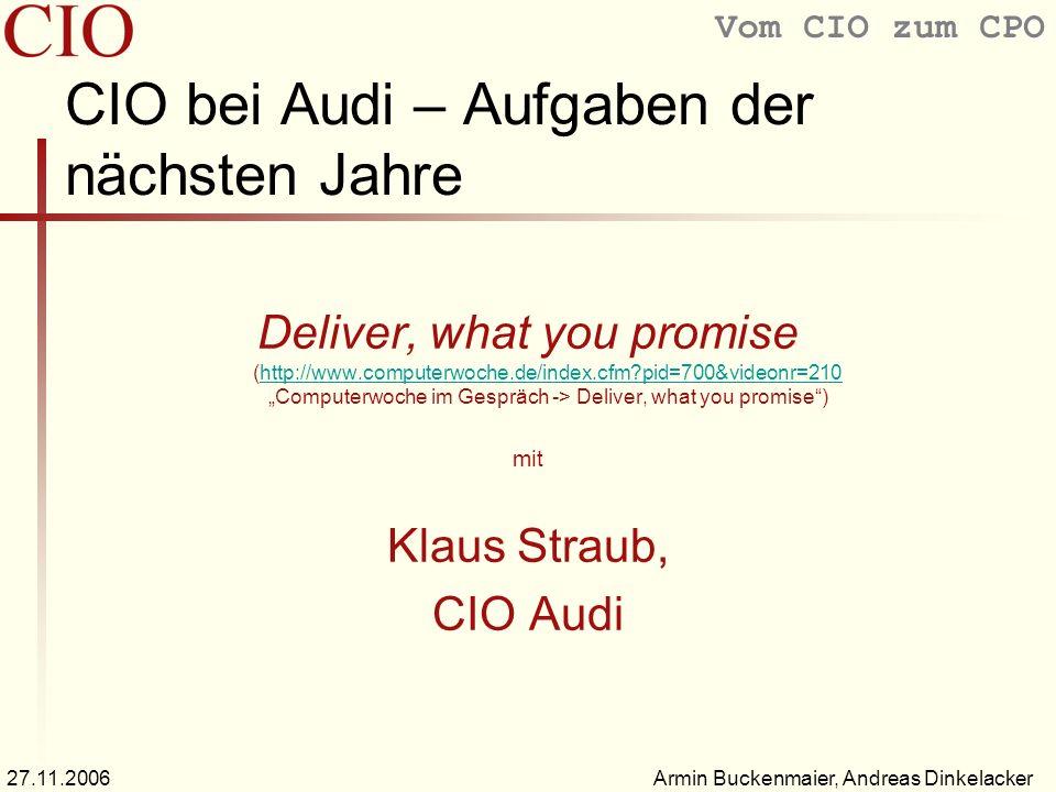 CIO bei Audi – Aufgaben der nächsten Jahre