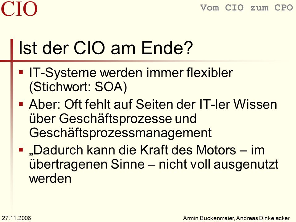 Der Chief Information Officer Ppt Video Online Herunterladen