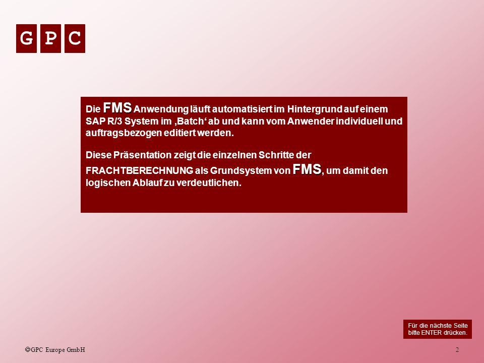 Die FMS Anwendung läuft automatisiert im Hintergrund auf einem SAP R/3 System im 'Batch' ab und kann vom Anwender individuell und auftragsbezogen editiert werden.