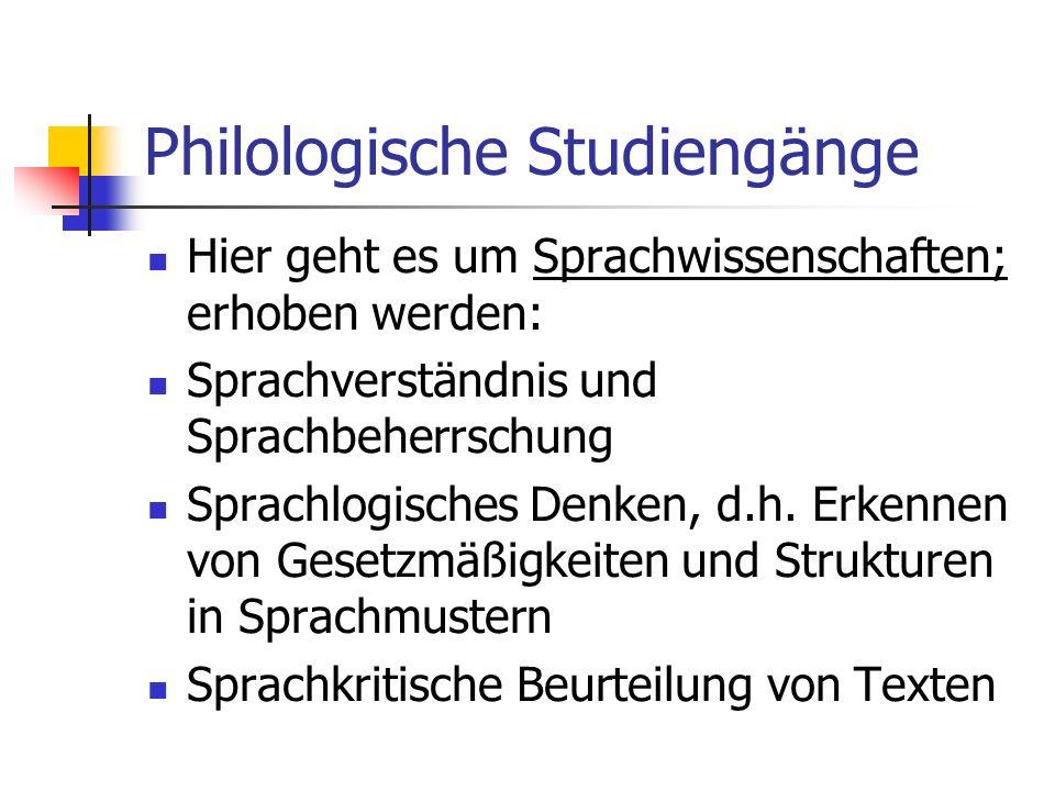 Philologische Studiengänge