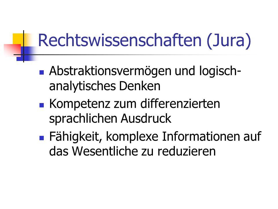 Rechtswissenschaften (Jura)