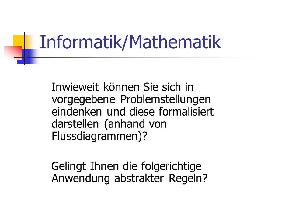 Informatik/Mathematik