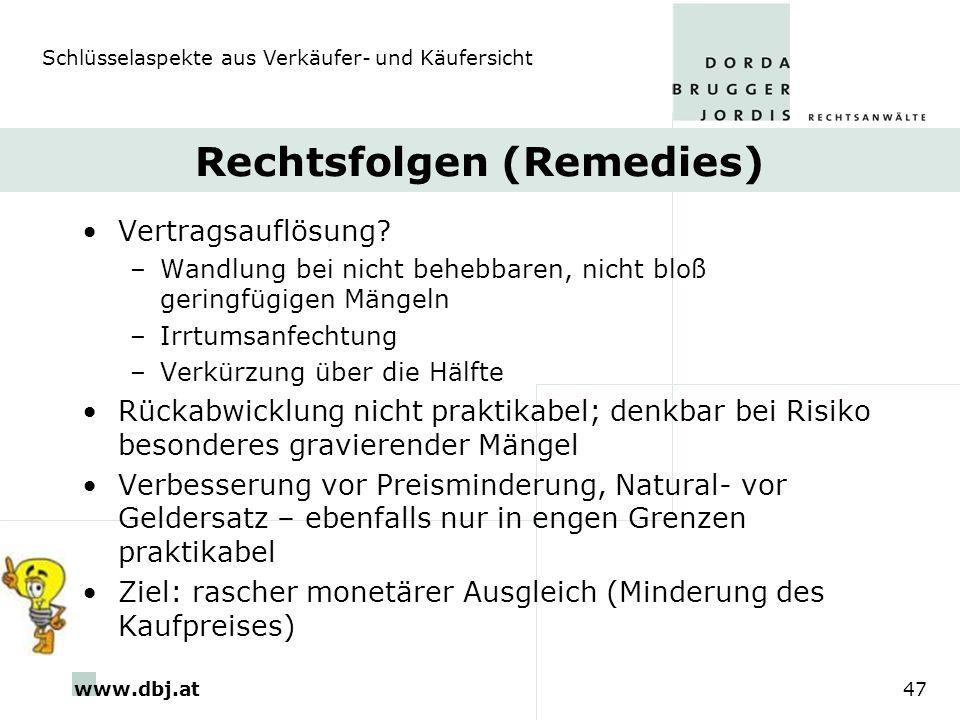 Rechtsfolgen (Remedies)
