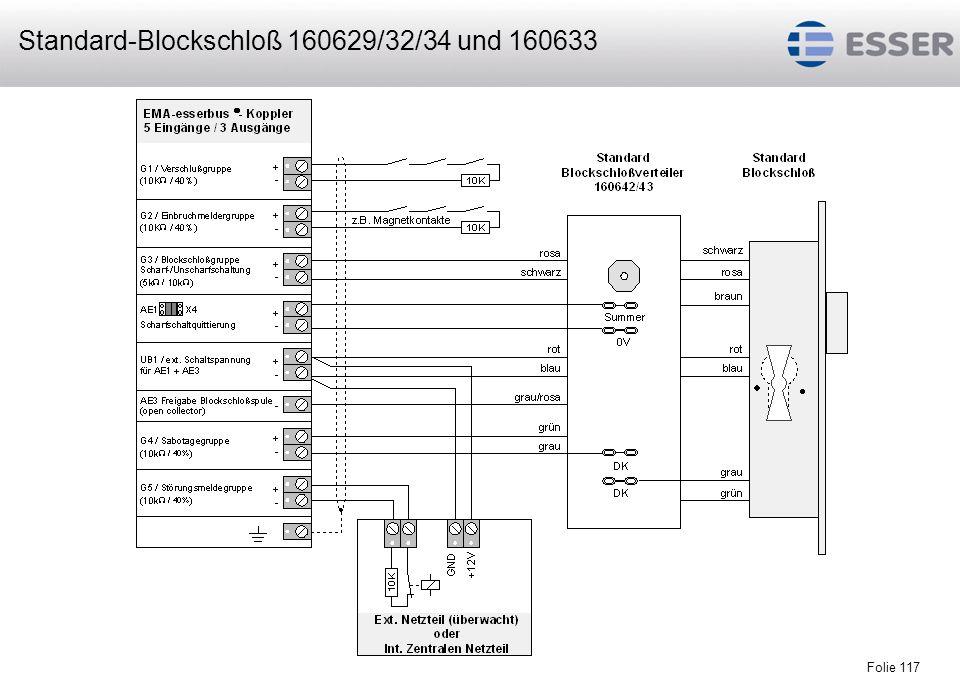 Standard-Blockschloß 160629/32/34 und 160633