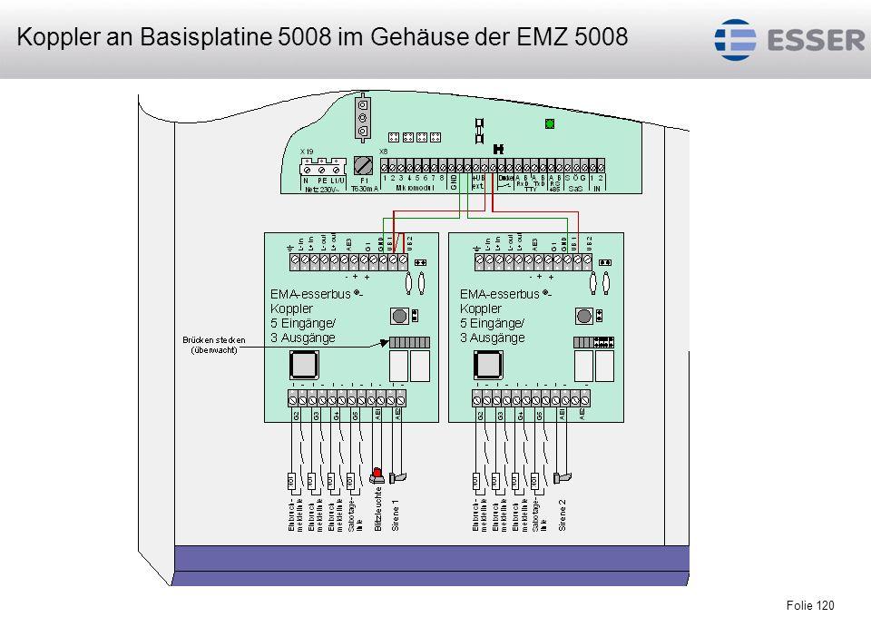 Koppler an Basisplatine 5008 im Gehäuse der EMZ 5008