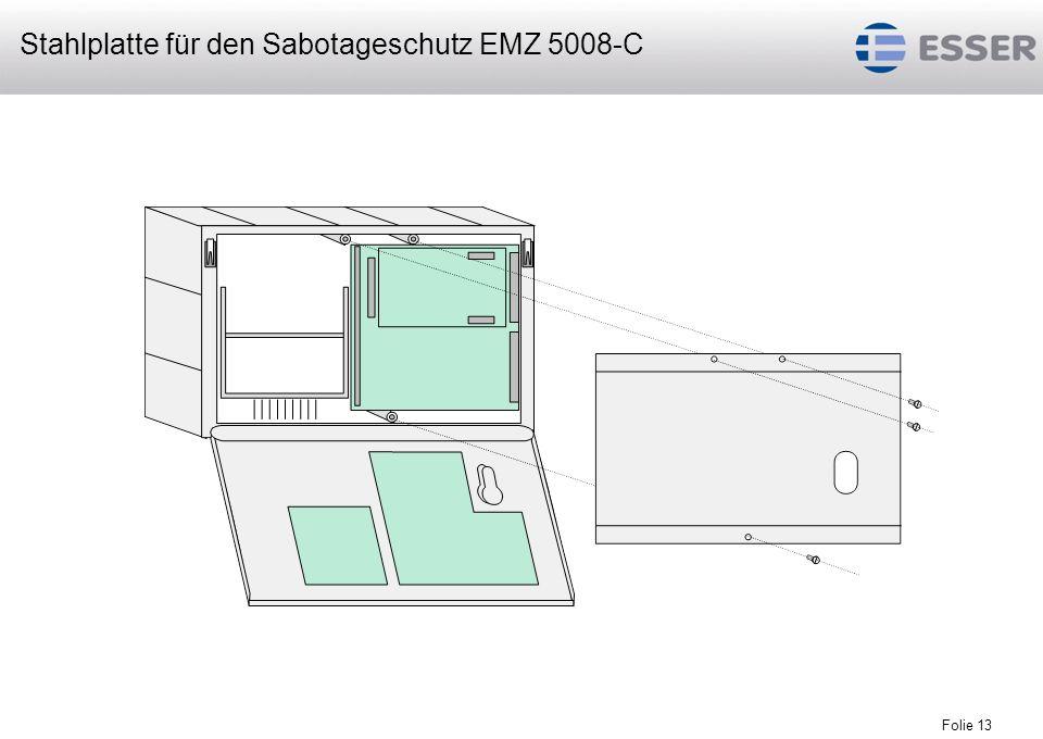 Stahlplatte für den Sabotageschutz EMZ 5008-C